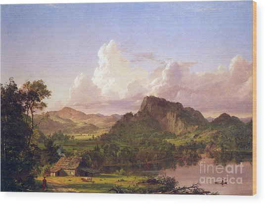 At Home On The Lake By Frederick Edwin Church Wood Print