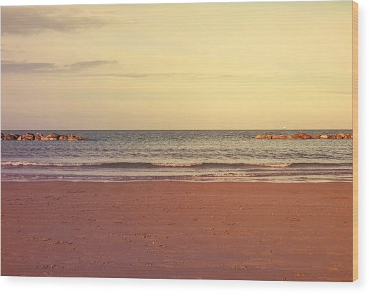 At The Beach Wood Print by Andrea Mazzocchetti