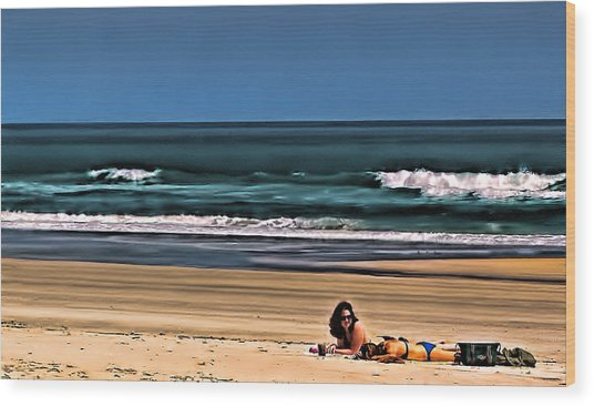 At The Beach Wood Print by Dave Bosse