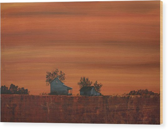 At The Edge Of The Day Wood Print by William Renzulli
