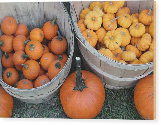 At The Farmer's Market 4 Wood Print by Mary Bedy
