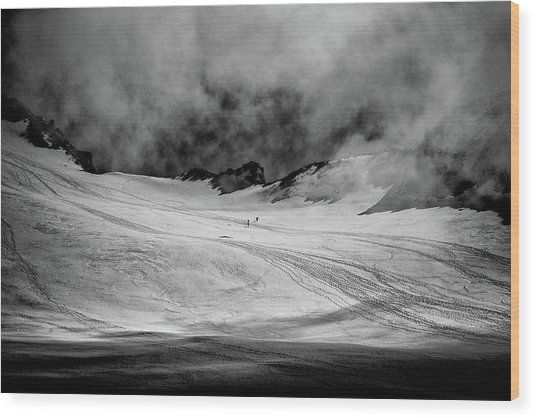 At The Foot Of Monte Rosa Wood Print