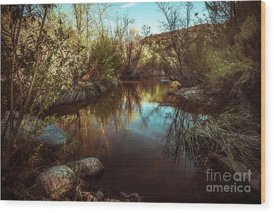 At The River Wood Print by Alexander Kunz