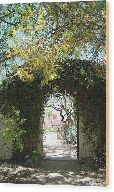 At Tohono Chul Wood Print