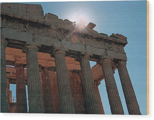 Athens Wood Print