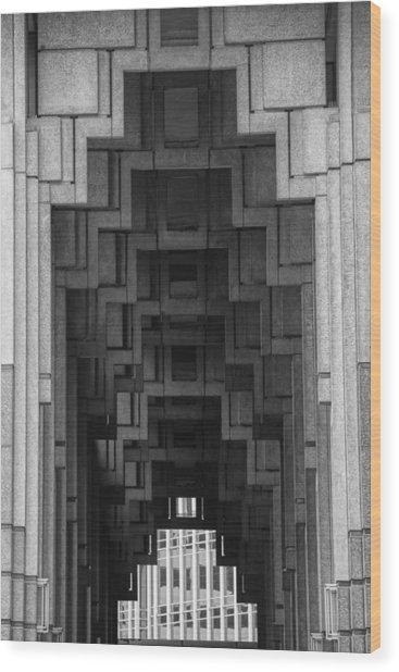 Atlanta Ga Architecture-city Building Wood Print