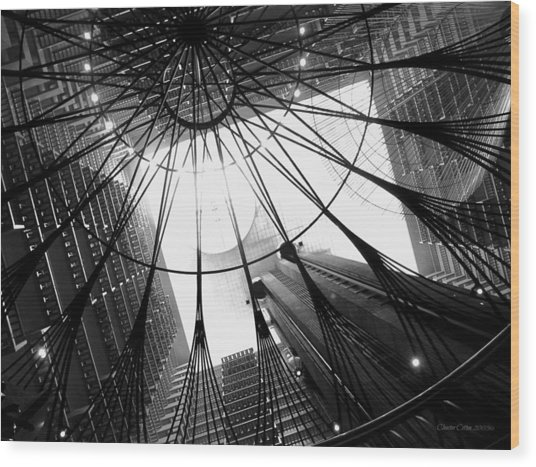 Atlanta Marriott Marquis Atrium Wood Print