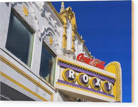Wood Print featuring the photograph Atlanta Roxy Theatre by Mark E Tisdale