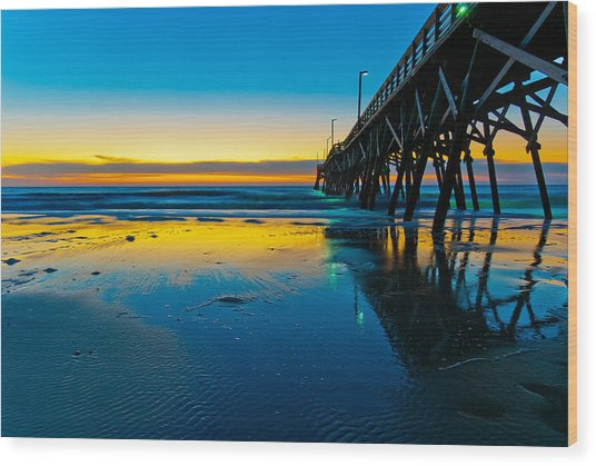 Atlantic Blue Wood Print
