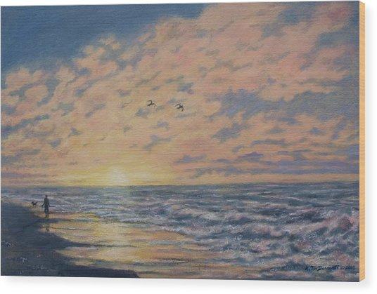 Atlantic Dawn # 2 By K. Mcdermott Wood Print