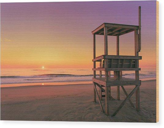 Atlantic Ocean In The Morning - Nauset Beach Wood Print by Dapixara