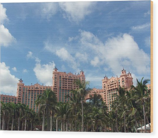 Atlantis Resort At Paradise Island Wood Print by Teresa Schomig