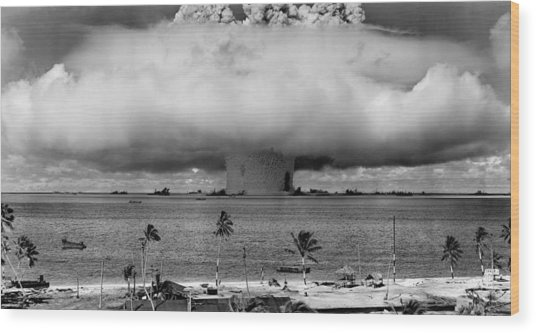 Atomic Bomb Test Wood Print