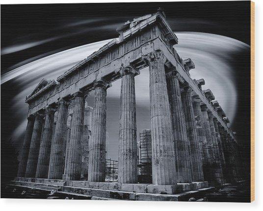 Atop The Acropolis Wood Print