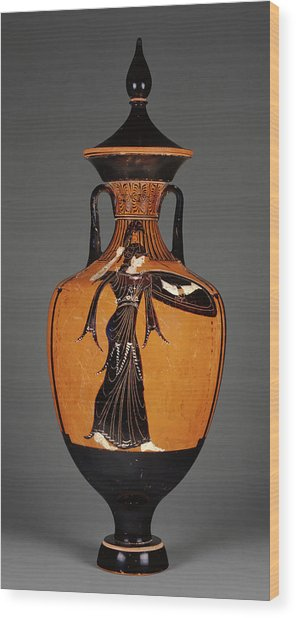 Attic Panathenaic Amphora With Lid Attributed Wood Print