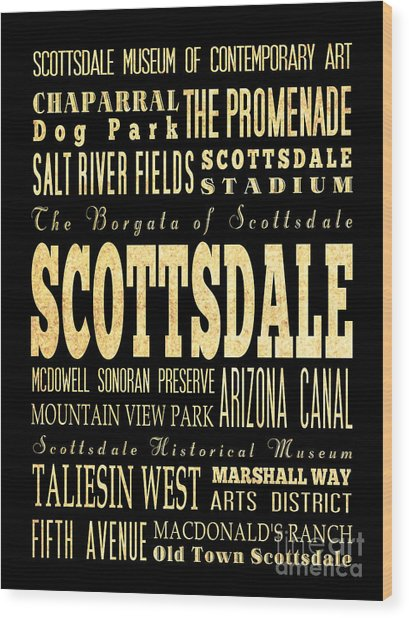 Attraction And Famous Places Of Scottsdale Georgia Wood Print by Joy House Studio