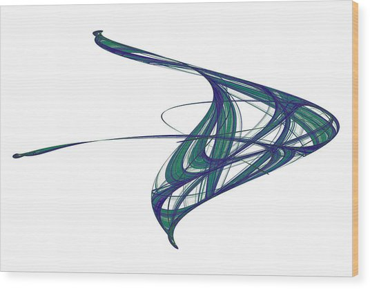 Attractor No. 29 Wood Print by Mark Eggleston