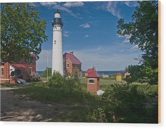 Au Sable Point Lighthouse  Wood Print