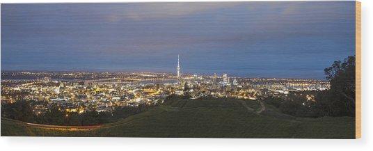Auckland Nights Wood Print by David Yack