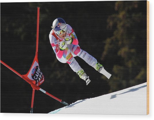 Audi Fis Alpine Ski World Cup - Womens Wood Print by Alexis Boichard/agence Zoom