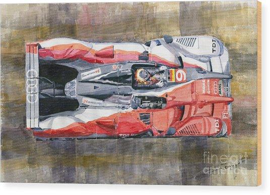Audi R15 Tdi Le Mans 24 Hours 2010 Winner  Wood Print