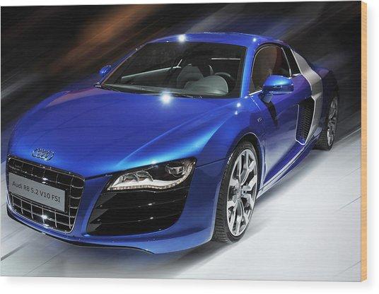 Audi R8 V10 Fsi Wood Print