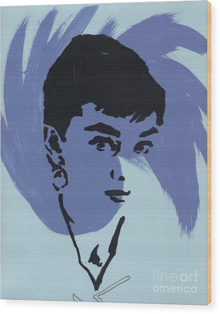 Audrey 6 Wood Print