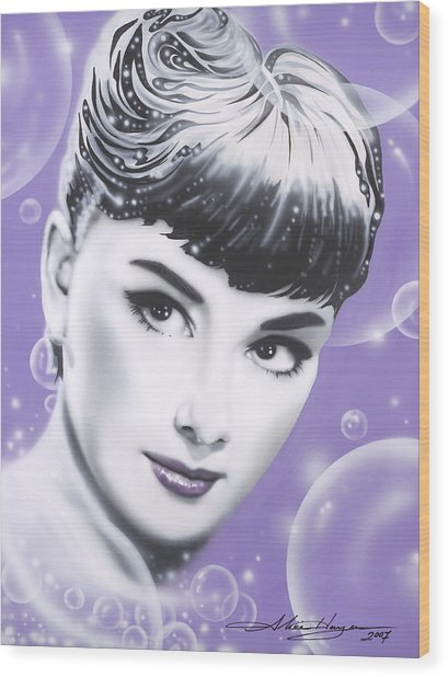 Audrey Hepburn Wood Print by Alicia Hayes