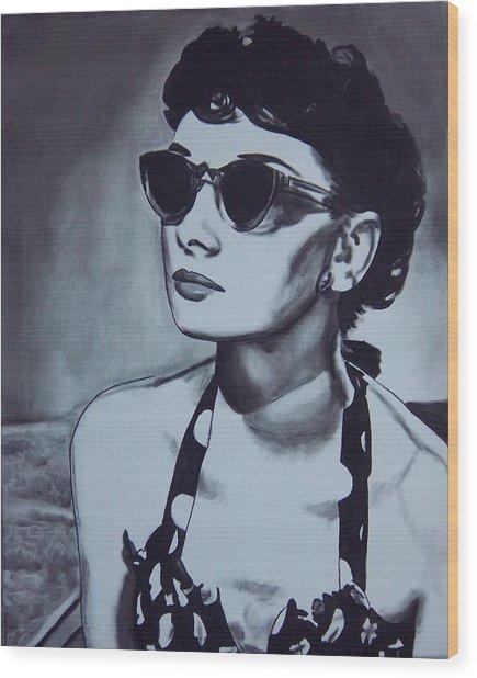 Audrey Hepburn Wood Print by Lori Keilwitz