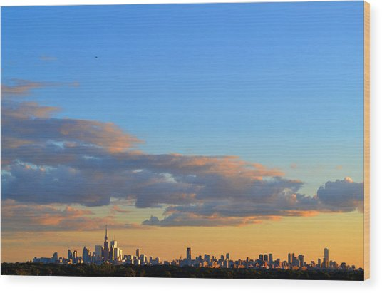August Early Evening Toronto 4  Wood Print by Lyle Crump