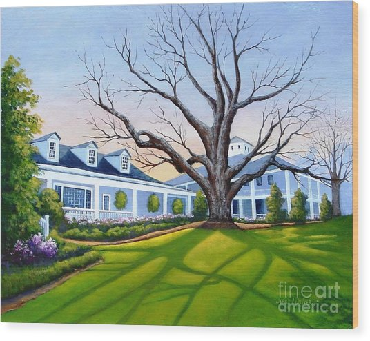 Augusta National Clubhouse Wood Print