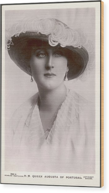 Augusta, Queen Of Portugal Augusta Wood Print by Mary Evans Picture Library