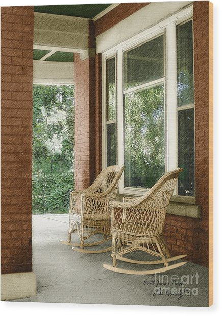 Aunt Jane's Porch Wood Print