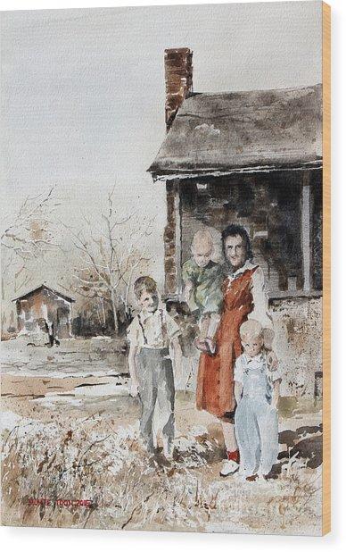 Aunt Peg Wood Print