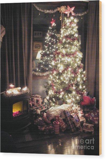 Aunties' Christmas Wood Print