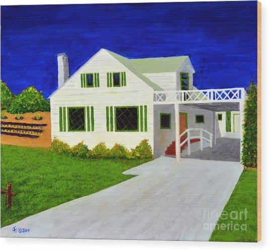 Auntie's House Wood Print