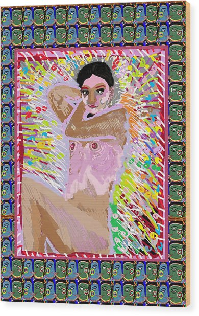 Aura Art Effect Of Love In Heart Showering Sparkle Colors Navin Joshi Rights Managed Images Graphic  Wood Print