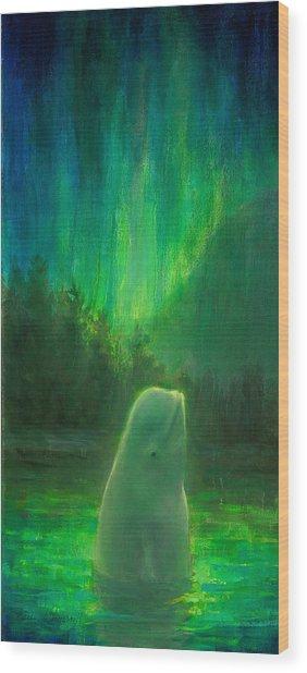 Aurora Beluga Wood Print