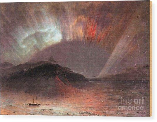 Aurora Borealis By Frederick Edwin Church Wood Print