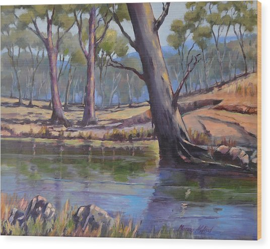 Aussie Billabong Wood Print