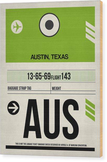 Austin Airport Poster 1 Wood Print