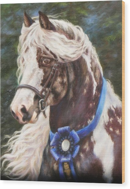 Austin Gypsy Stallion Wood Print