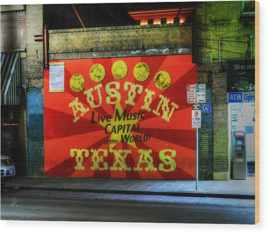 Wood Print featuring the photograph Austin Hdr 006 by Lance Vaughn