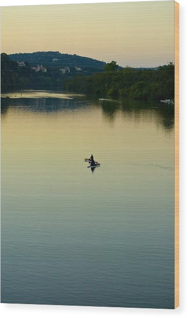 Austin Lady Bird Lake Wood Print