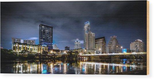 Austin Skyline Hdr Wood Print