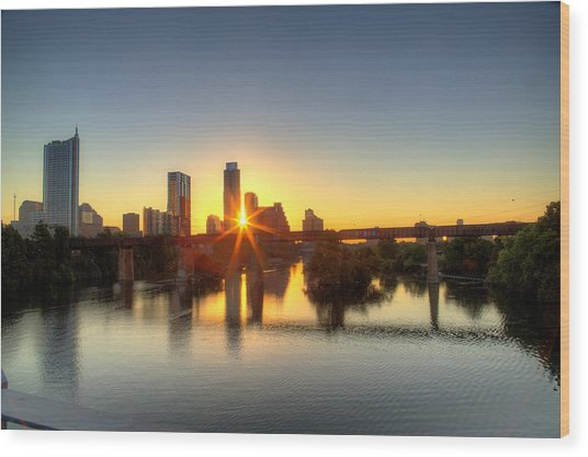 Austin Sunrise Wood Print