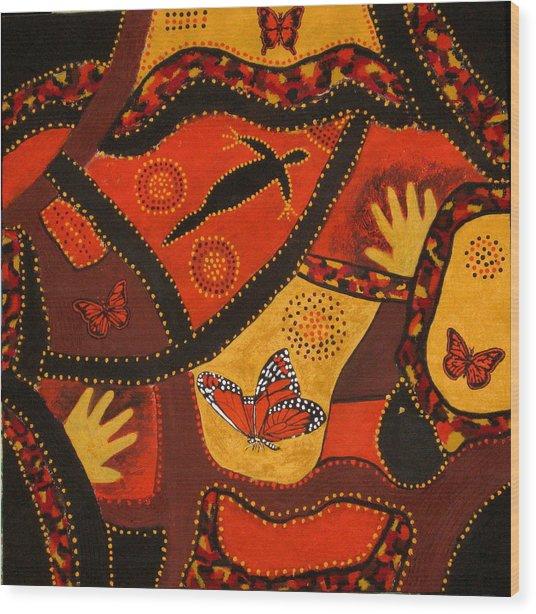 Australian Colours Wood Print by Susan McLean Gray