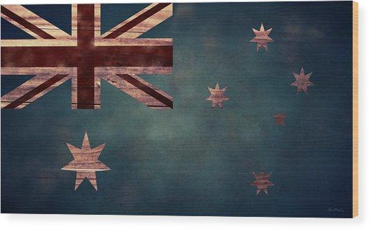Australian Flag I Wood Print