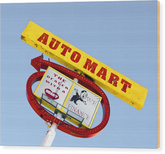 Wood Print featuring the photograph Auto Mart by Gigi Ebert