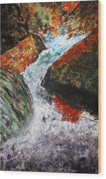 Autum Flow Wood Print by Enola McClincey